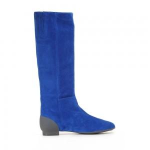 Cizme albastre Geox pentru femei, din piele velur D24U5A00022_C4011