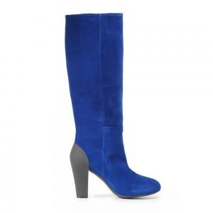 Cizme albastre Geox pentru femei din piele velur D24X4M00022_C4011