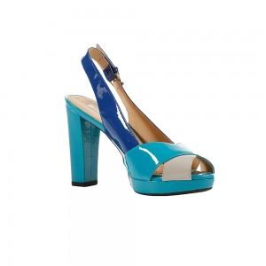 Sandale femei Geox New Egizia Gri albastre D32L9A00066_C0374