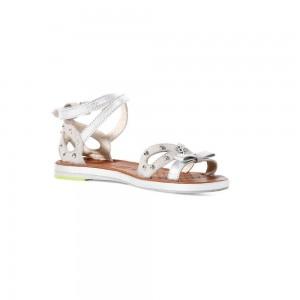 Sandale fete Geox Fidia gri deschis/argintiu J3276C02182_C1355