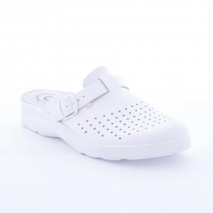 Saboti din piele Daco 5010 alb