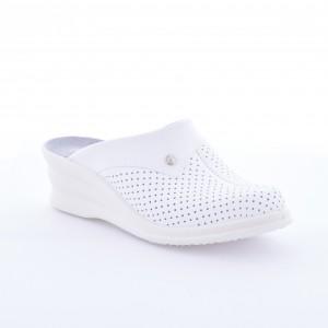 Saboti din piele DACO 591 alb