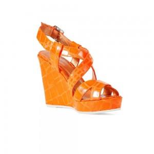 Sandale femei Geox Peonia portocaliu fluorescent D32V6U00040_C7007